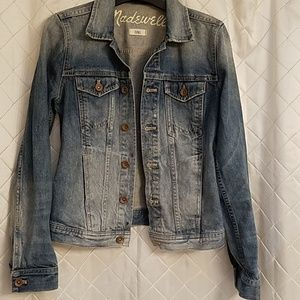 Madewell lightly distressed jean jacket XS